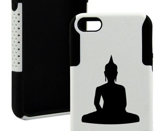 For iphone 5/5s, 5c, 4/4s Plastic And Silicone BUDDHA Case
