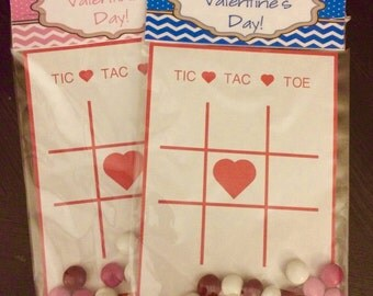 Tic Tac Toe Valentine's Cards