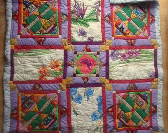 A dream of butterflies - cuddly quilt with butterfly pattern