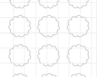 Flower cupcake toppers Template