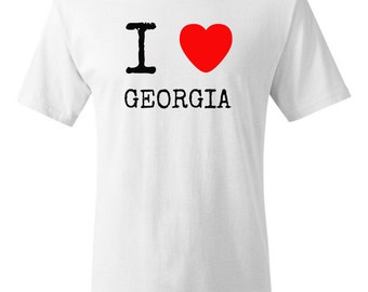 I heart Gerogia Shirt I love Georgia Shirt GA shirt
