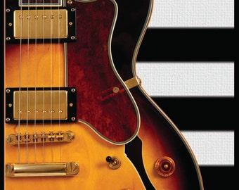 "Electric Guitar Music Poster on Ultra Board 12""x18"" - Musical Wall Art - Music Wall Art"