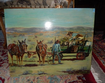 ORIGINAL PAINTING of HORSES