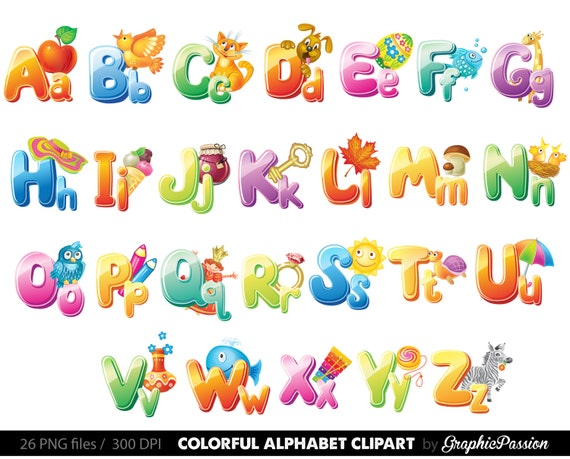 Clip Art Alphabet Clipart illustrated alphabet clipart color by graphicpassion digital letters clip art art