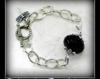 Silver & Black Bracelet - Redemtion