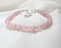 Rose Quartz Bracelet - Love Stone Bracelet - Energy Bracelet - Healing Bracelet - Love Bracelet -
