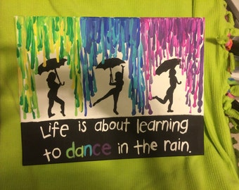 Dancing in the rain painted canvas