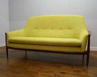 Vintage Swedish Teak Sofa