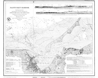 Nantucket Harbor Map 1848