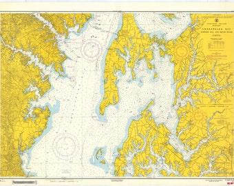 Chesapeake Bay Map 1963