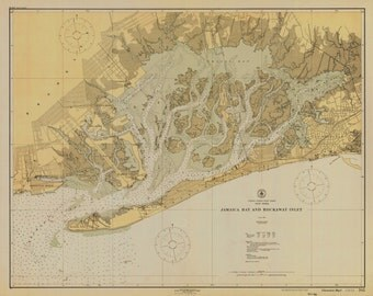 Jamaica Bay Map & Rockaway Inlet New York - 1926 Historical Chart