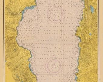 Lake Tahoe Historical Map 1951