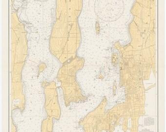 Newport Harbor Map 1934