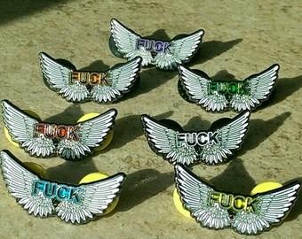 Set of 7 - Flying F**k hat pins!