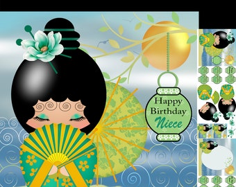Digital Download Greeting Card Crafting Kit