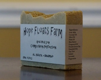 Acne Fighting, Facial Soap, GOAT MILK soap - All Natural, Handmade