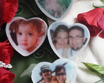 Custom Heart Picture Soaps