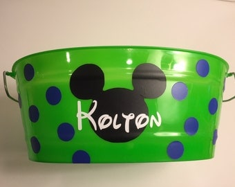 Green Customized Easter Bucket