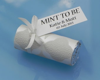 10 Luxury Personalised Wedding Favors Sweets Mints *Mint To Be* Shimmer
