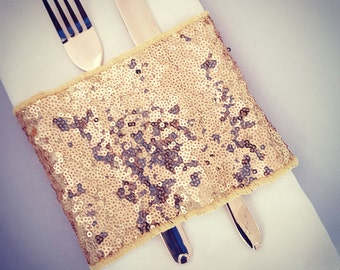 sequin napkin holder ring