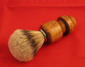 Super premium badger shaving brush with turned wood handle. Perfectly unique gift idea by Specialty Turned Designs