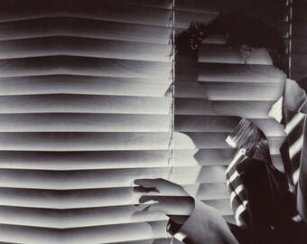TEA017: Noir - Vintage SALE - Surreal, Abstract, Metaphysical, Detective, Vintage, B&W, Hard Boiled, Blinds, Collage Art