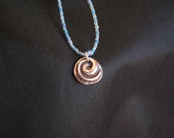 Sea Snail -- Sterling Silver Pendant of Sea Snail