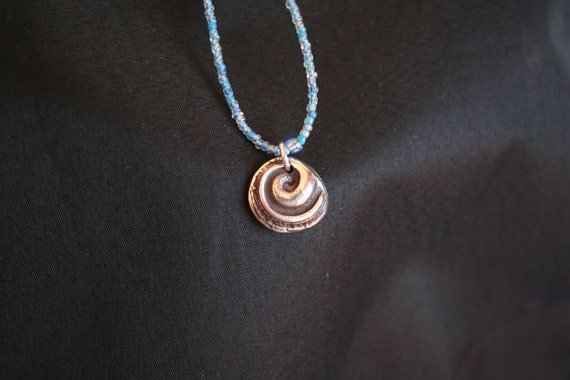 Sea Snail -- Sterling Silver Pendant of Sea Snail
