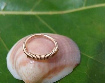 Ear Hoop 16g ear hoop 14 k gold filled ear hoop in gold small ear hoop