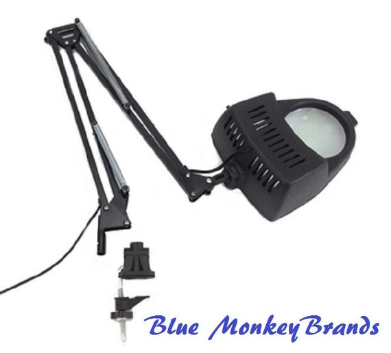 Clamp On Swing Arm Lighted Magnifying Lamp By BlueMonkeyBrands