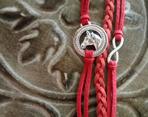 Horse bracelet cowgirl bracelet infinity cowgirl country girl cowgirl charm rodeo bracelet horse bracelet sister daughter bff rodeo queen