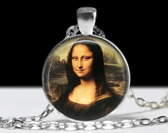 Mona Lisa Painting Pendant Famous Painting Jewelry