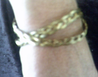 4 Strand Plaited Brass Bangles 2 of