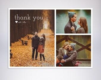Thank you printable custom photo card