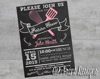 Bridal Shower Invitation Kitchen-Theme Chalkboard