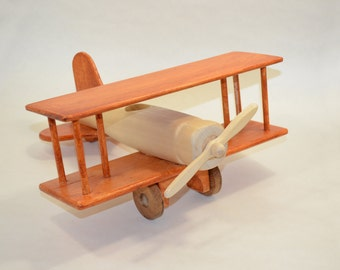 Wooden Toy Airplane.