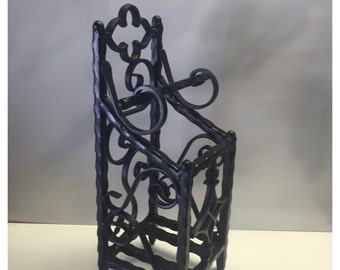 Wrought iron toilet paper holder
