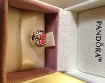 Authentic Pandora Charm Pink Enamel Clip