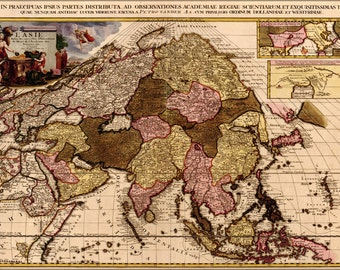 24x36 Poster; Map Of Asia 1680 In French