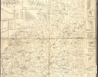24x36 Poster; Map Of Clarion Co., Pennsylvania 1865