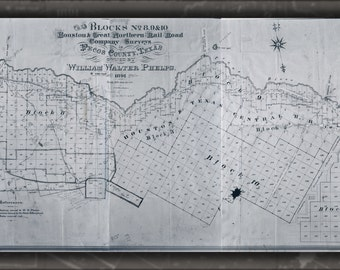 24x36 Poster; Map Of Houston Northern Railroad Texas 1891 West