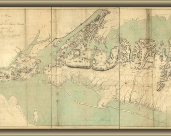 24x36 Poster; Map Of New York Staten Island Long Island 1782