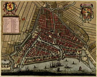 24x36 Poster; Map Of Rotterdam, Holland, Netherlands 1709