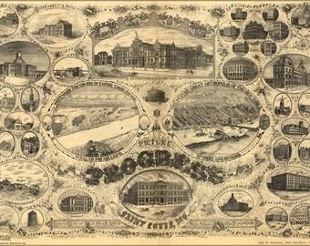 24x36 Poster; Views Of St. Louis Missouri 1784 To 1884