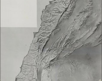 24x36 Poster; Cia Terrain Map Of Lebenon