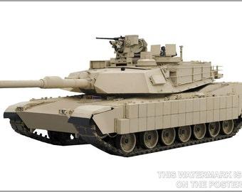 24x36 Poster; M1A2 Abrams
