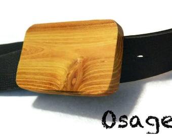 Wooden Belt Buckle - Osage Orange