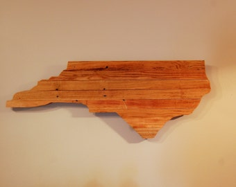 Reclaimed Pallet Wood North Carolina Cut Out