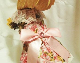 Pink Dog Dress Handmade & Fully Lined