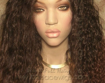Two tone Kinky wavy Lace Front wig ombre curly wig lace front wig Nicki Minaj wig Kim Kardashian lace front wig drag queen lace wig